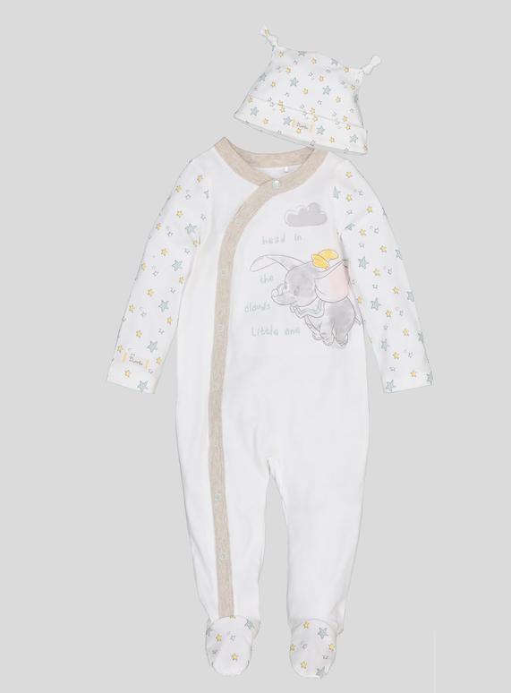 License   Character Shop Disney Dumbo Cream Sleepsuit   Hat Set ... bb9940c3465d