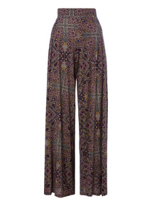 Navy Wide Palazzo Trousers