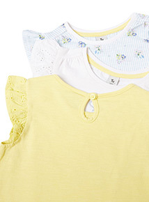 3 Pack Multicoloured Summer Meadow T-Shirts (9 months-6 years)