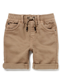 Stone Woven Loopback Shorts (3-14 years)