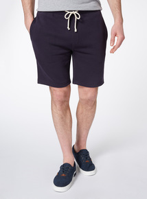 Navy Plain Sweat Shorts