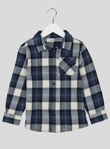 Blue Brushed Check Shirt (1 - 6 Years)
