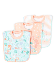 3 Pack Multicoloured Sea Friends Popover Bibs