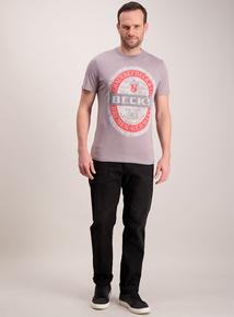 Becks Grey Slogan T-Shirt