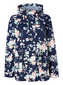 Multicoloured Floral Print Drawcord Jacket