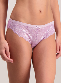 Purple Glitter Lace Brazilian Knickers