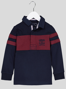 Navy Rugby Shirt (3-14 Years)