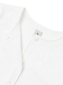 White Embroidered Cardigan (3-14 years)