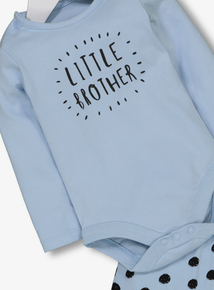 Blue 'Little Brother' Body & Joggers Set (0-24 Months)
