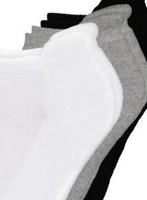 Black, Grey & White Trainer Socks 2 Pack