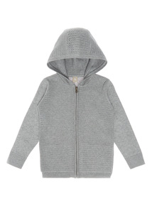 Boys Grey Hooded Zip Through (3 - 12 years)