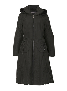 DAVID BARRY Black Knee-Length Coat