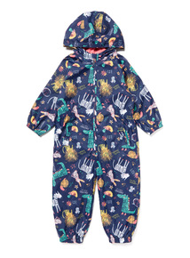 Navy Fleece Lined Puddle Suit (9 months-6 years)