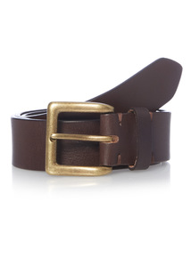 Brown Casual Leather Jeans Belt