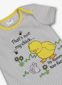79bcace6c2c  That s Not My Chick  Grey Romper (Newborn -24 ...
