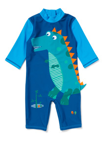 Blue Novelty Dinosaur Sunsafe Swimsuit (9 months-6 years)