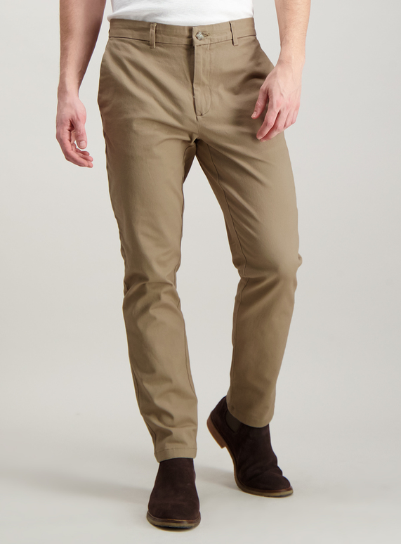 latest discount autumn shoes best authentic Menswear Stone Slim Fit Chinos With Stretch | Tu clothing