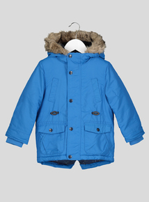 Blue Padded Parka Jacket (9 months-6 years)
