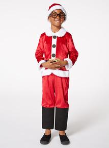 Red Christmas Santa Costume (1-10 years)
