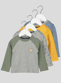 Multicoloured Long Sleeve Tops 4 Pack (0-24 months)