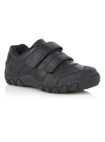 Boys Black Leather Casual Shoes