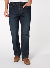 Mid Wash Bootcut Jeans