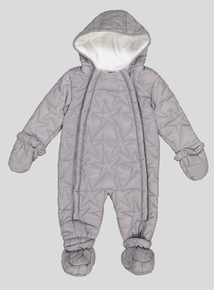 Grey Star Quilted Snowsuit (0-24 months)