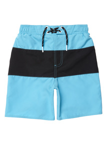 Boys Multicoloured Neon Blue Swim Shorts (3 - 14 years)