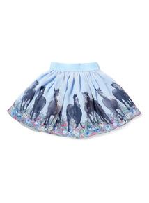 Blue Horse Skirt (3-14 years)