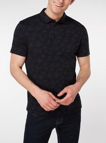 Navy Floral Polo Shirt