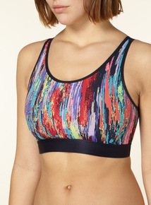 Multicoloured Low Impact Sports Cropped Bra