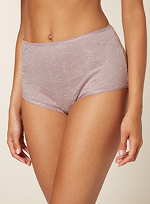 Embroidered Midi Briefs 5 Pack