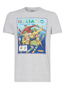Official Fifa Panini Grey Italia 90 Tee
