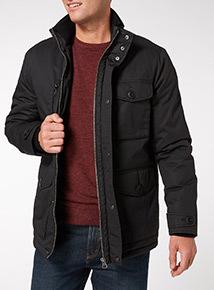 Black Wax Padded Jacket