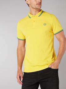 Admiral Yellow Football Polo Shirt