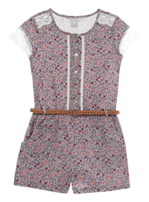 Girls Jersey Floral Playsuit (3-12 years)