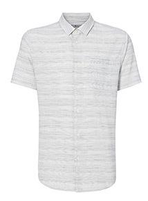 Blue Ecru Stripe Regular Fit Shirt