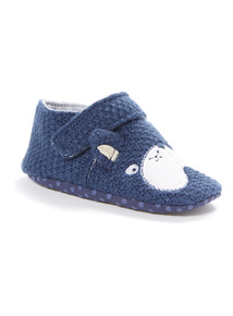 Blue Knitted Dog Slippers (0-18 months)