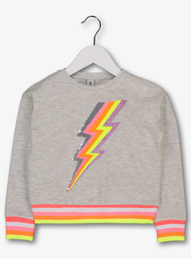 2ec22a3930d Cream Neon Lightening Bolt Sweatshirt (3-14 Years)