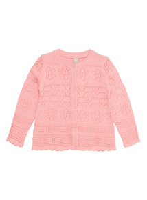 Pink Pointelle Patterned Cardigan (9 months - 6 years)