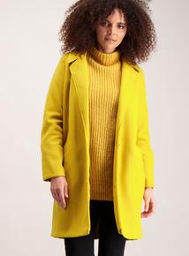 Mustard Yellow Longline Coat