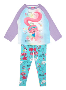 Multicoloured Trolls Pyjama Set (3-10 years)