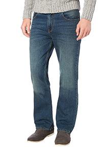 Green Tint Bootcut Denim Jeans