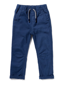 Navy Ribbed Waist Trousers (9 months-6years)
