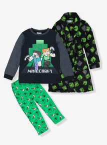 Minecraft Green Pyjamas & Dressing Gown (3-12 Years)