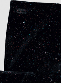 Black Glitter Velour Legging (3-14 years)