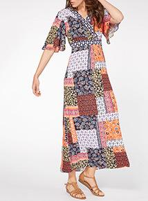 Patchwork Maxi Dress