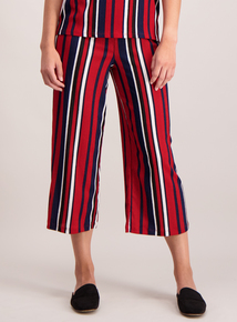 Online Exclusive Red Stripe Jersey Culotte