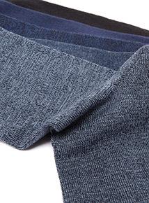 5 Pack Blue and Black Socks