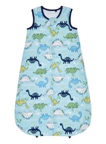 Boys Navy Dino Woven 0.5 Tog Sleeping Bag (0-24 months)